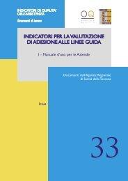indicatori per la valutazione di adesione alle linee guida