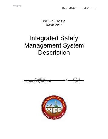 Integrated Safety Management System Description