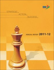 18th Annual Report 2011-12 - iec group