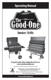 Smoker/Grills Operating Manual - Ace Of Hearts ™ BBQ
