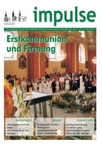 Informationszeitung des Pfarrverbandes Gleisdorf, Hartmannsdorf