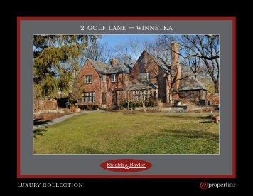2 GOLF LANE – WINNETKA - Properties