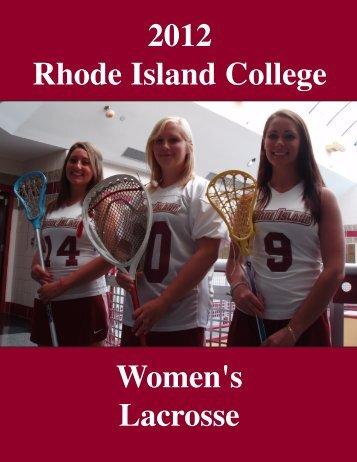 The 2012 Rhode Island College Women's Lacrosse Team