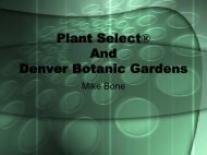 Plant Select® And Denver Botanic Gardens - International Plant ...