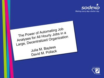 The Power of Automating Job Analyses for All Hourly Jobs in ... - IPAC