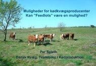 Dansk Kvæg kongres, Tema 4, Udfordringer i ... - LandbrugsInfo