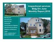 Code Enforcement 2010 June Report - City of Springfield