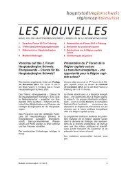 Newsletter 3/2013 der Hauptstadtregion - Hauptstadtregion Schweiz