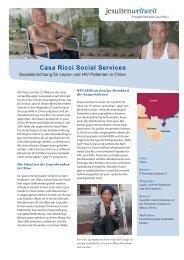 Projektblatt Casa Ricci - Jesuitenmission