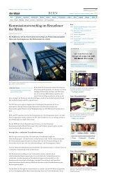 Kommissionsvorschlag im Kreuzfeuer der Kritik - News Bern ... - BSPV