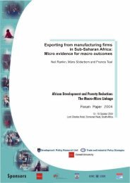 Exporting from manufacturing firms in Sub-Saharan Africa ... - tips