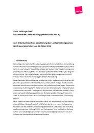 Stellungnahme vom 24. April 2013 - Fachbereich Medien, Kunst und ...