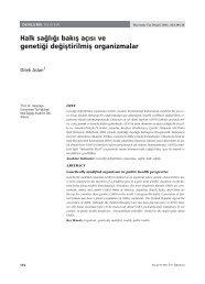 halk sağlığı bakış açısı ve genetiği değiştirilmiş organizmalar ...