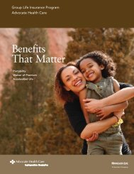 Benefits That Matter - Advocate Benefits - Advocate Health Care