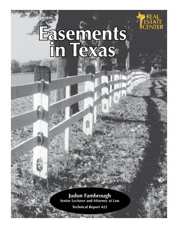 Easements in Texas - Real Estate Center - Trinity Waters