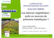 Les toitures végétalisées : puits ou sources de polluants métalliques ?