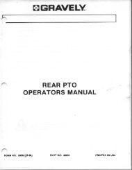 Rear PTO Operator's Manual - Gravely Tractor Club