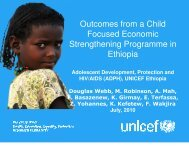 Outcomes from a Child Focused Economic Strengthening ...