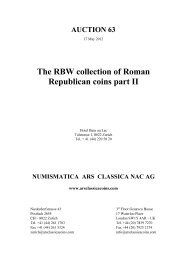 The RBW collection of Roman Republican coins part II