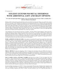 T279 Titleist Extends 910 Metals Offerings With ... - Golf-Plattform.de