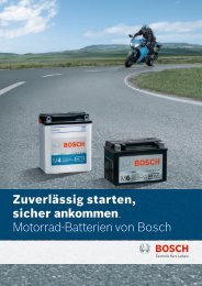 Zuverlässig starten, sicher ankommen. Motorrad-Batterien von Bosch