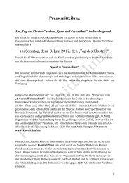 Pressemitteilung 1 - Brancheninitiative Gesundheitswirtschaft ...