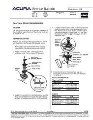 92-039 Rearview Mirror Reinstallation - Dali Racing