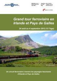 Grand tour ferroviaire en Irlande et Pays de Galles 24 ... - SERVRail