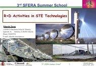 R+D activities in STE technologies: Eduardo Zarza - SFERA
