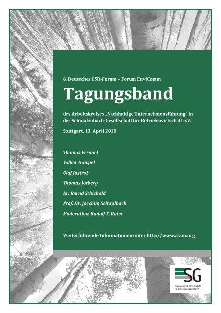 Tagungsband – 6. Deutsches CSRForum – Forum EnviComm - Rudolf X. Ruter