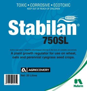 Stabilan 750SL 20L Label - Nufarm