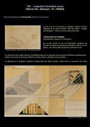 1991 - proposition d'animation murale Hôtel de ville – Besançon - 25