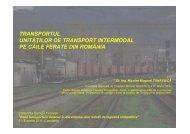 Transportul unităților de transport intermodal pe căile ferate din ...
