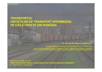 Transportul unităților de transport intermodal pe căile ferate din ...