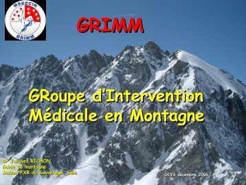 suisse - Association Nationale des Médecins du Secours en Montagne