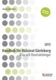 Handbok 2013 Hälsoval Gävleborg - Landstinget Gävleborg