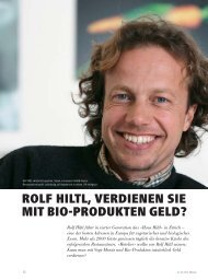 rolf hiltl, verdienen sie mit bio-produkten geld? - hoteljournal.ch