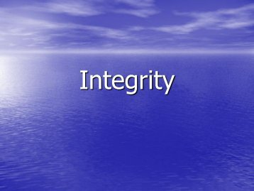 Integrity assembly