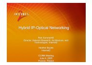 Hybrid IP-Optical Networking - ccirn