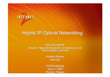 Hybrid IP-Optical Networking - ccirn