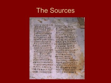 The Sources