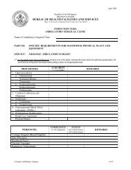BUREAU OF HEALTH FACILITIES AND SERVICES - DOH