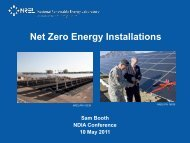 Net Zero Energy Installations - E2S2