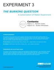 Experiment 3 THE BURNING QUESTION - Adam Equipment