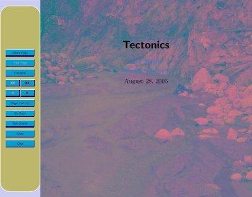 Tectonics - Glyfac.buffalo.edu