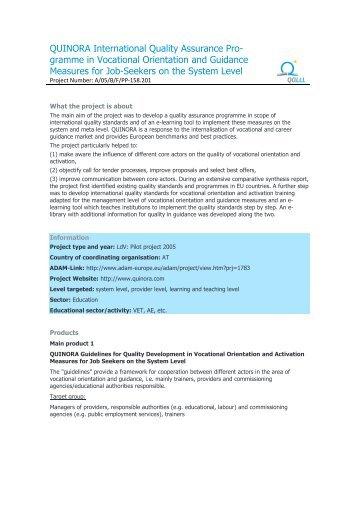 QUINORA - International Quality Assurance Programme in ... - QALLL