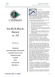 Newsletter numero 15 - Ce.Ri.S.Ma.S.