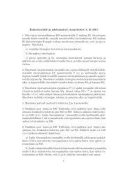 Rahoitusriskit ja johdannaiset, harjoitukset 5, kl 2011 1. Osto-optio ...