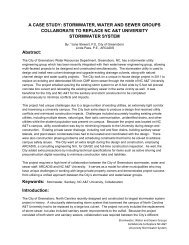 A CASE STUDY: STORMWATER, WATER AND ... - Public Documents