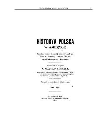1 Historya Polska w Ameryce - tom VIII - Liturgical Center